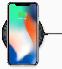apple iphone x charging dock front