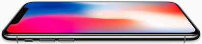 apple iphone x front side flat