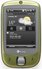 htc touch p3450 front gold